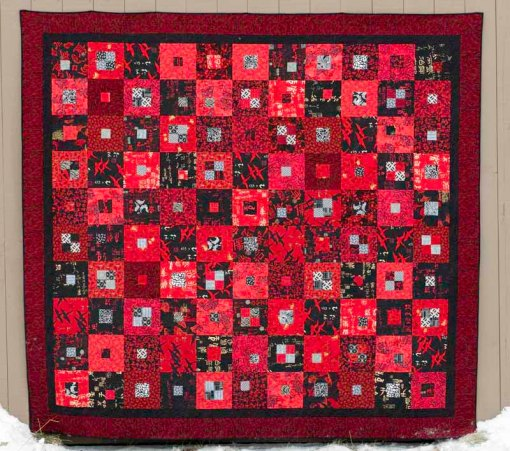red & black quilt for Jennifer